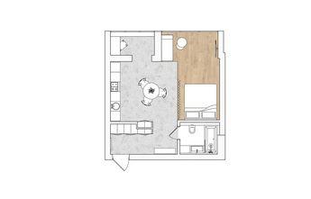130平米三田园风格客厅图