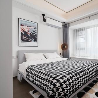 富裕型120平米三室一厅北欧风格卧室图片