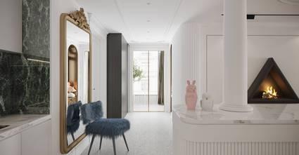 经济型110平米三室两厅法式风格玄关图片