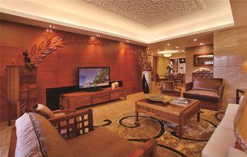 富裕型60平米东南亚风格客厅图