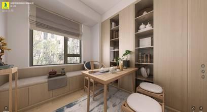 110平米三室两厅日式风格书房图片