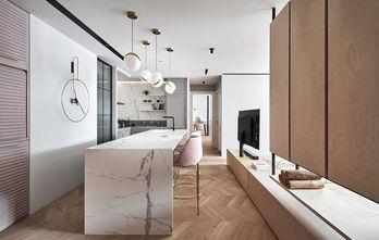 富裕型110平米三室两厅北欧风格厨房图片