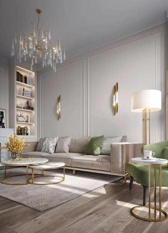 公寓新古典风格客厅装修效果图