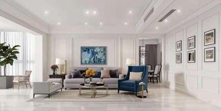 经济型100平米三室一厅美式风格客厅装修图片大全
