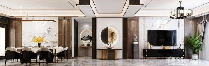 富裕型三室两厅中式风格客厅图片