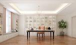 120平米三室两厅新古典风格书房图片