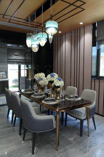 富裕型120平米三室两厅轻奢风格餐厅装修效果图