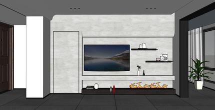 富裕型140平米三室两厅混搭风格客厅设计图