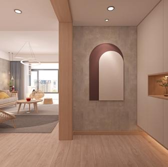 20万以上140平米三室两厅北欧风格玄关欣赏图