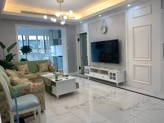 富裕型110平米三室一厅田园风格客厅效果图