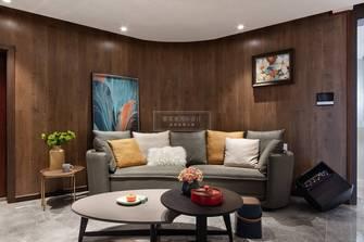 120平米三室三厅混搭风格客厅图片大全