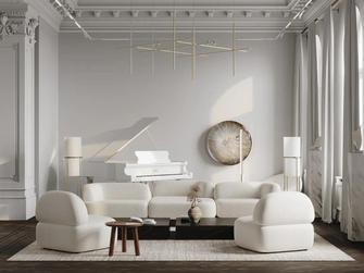 20万以上140平米四法式风格客厅装修效果图
