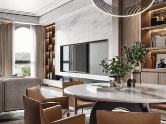 富裕型三室两厅轻奢风格餐厅图片