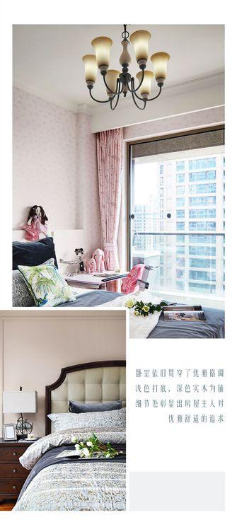 豪华型110平米三室两厅欧式风格卧室装修效果图