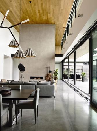 140平米别墅工业风风格客厅图