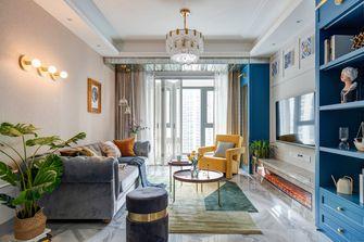富裕型三室两厅混搭风格客厅图