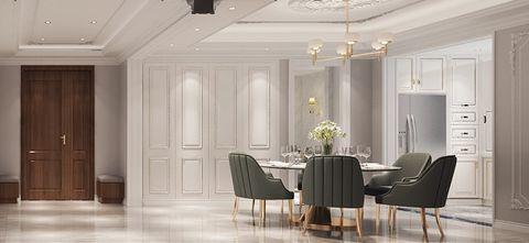 富裕型140平米四欧式风格餐厅效果图