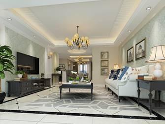 豪华型140平米三室两厅美式风格客厅图