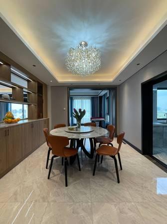 豪华型140平米四室三厅现代简约风格餐厅装修图片大全