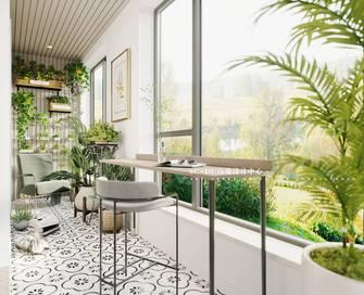 豪华型120平米三法式风格阳台图片大全