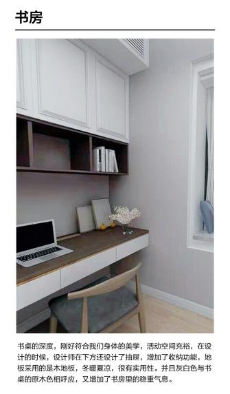 经济型130平米现代简约风格书房效果图