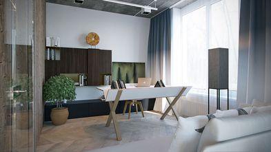 经济型110平米三室两厅工业风风格书房欣赏图