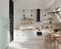 5-10万50平米小户型日式风格厨房设计图