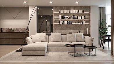 富裕型110平米三现代简约风格客厅装修图片大全