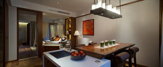 50平米公寓中式风格客厅图