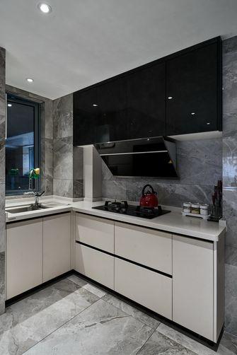 豪华型三室一厅现代简约风格厨房装修图片大全