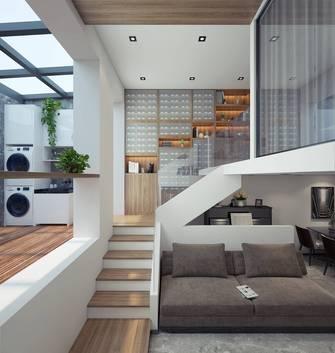 富裕型60平米现代简约风格楼梯间图片大全