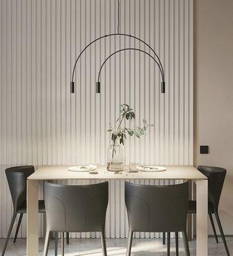 经济型60平米一室一厅现代简约风格餐厅图
