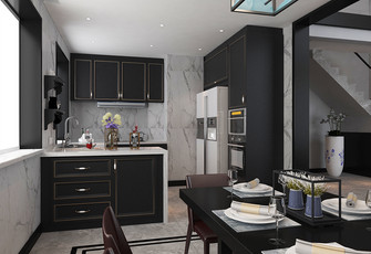 20万以上140平米四室两厅中式风格厨房图