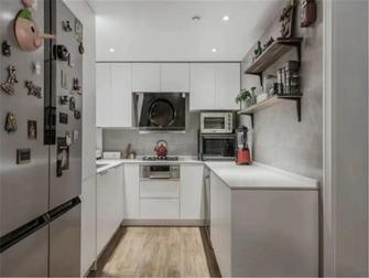 富裕型80平米田园风格厨房装修图片大全