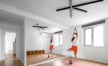 富裕型100平米三室两厅北欧风格健身房图片