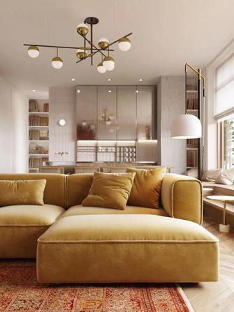 富裕型120平米三室两厅新古典风格客厅图