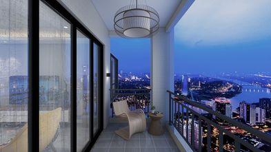 富裕型90平米三室两厅北欧风格阳台欣赏图