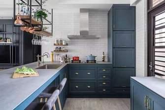 富裕型50平米一室一厅轻奢风格厨房图片