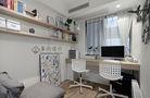 富裕型130平米三室两厅日式风格书房图片