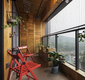 20万以上110平米三室一厅工业风风格阳台欣赏图