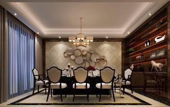 富裕型140平米四室三厅混搭风格餐厅效果图