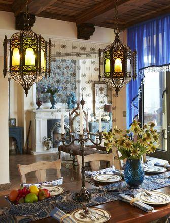 15-20万140平米别墅东南亚风格餐厅装修图片大全