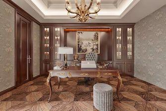 140平米三室一厅美式风格书房图片