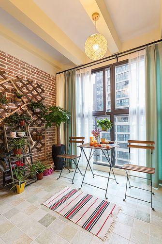 110平米三室一厅混搭风格阳台图片