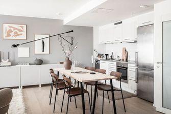 富裕型60平米公寓北欧风格餐厅图片