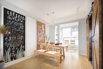 5-10万100平米三室两厅北欧风格餐厅装修效果图