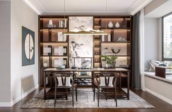 20万以上140平米四中式风格书房装修案例