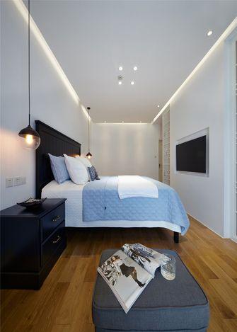 豪华型100平米复式混搭风格卧室图