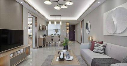130平米三室三厅现代简约风格客厅欣赏图
