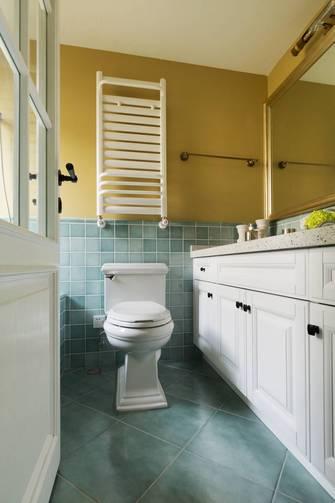 5-10万80平米三室一厅美式风格卫生间装修图片大全
